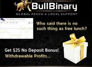 BullBinary Broker – 25$ No Deposit Bonus, Small Minimum Deposit & Deposit Bonus!