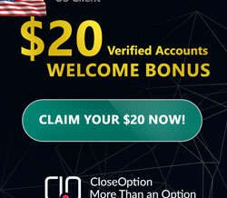 Close Option Broker – 20$ Binary Options No Deposit Bonus!